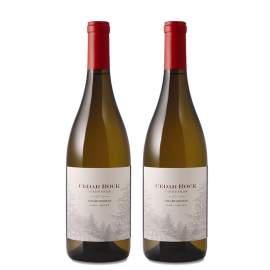 2 bottles of Cedar Rock Chardonnay 2010