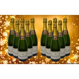 12 DEMI BOUTEILLES Champagne Comtesse de Brissy Brut Reserve (375ml)