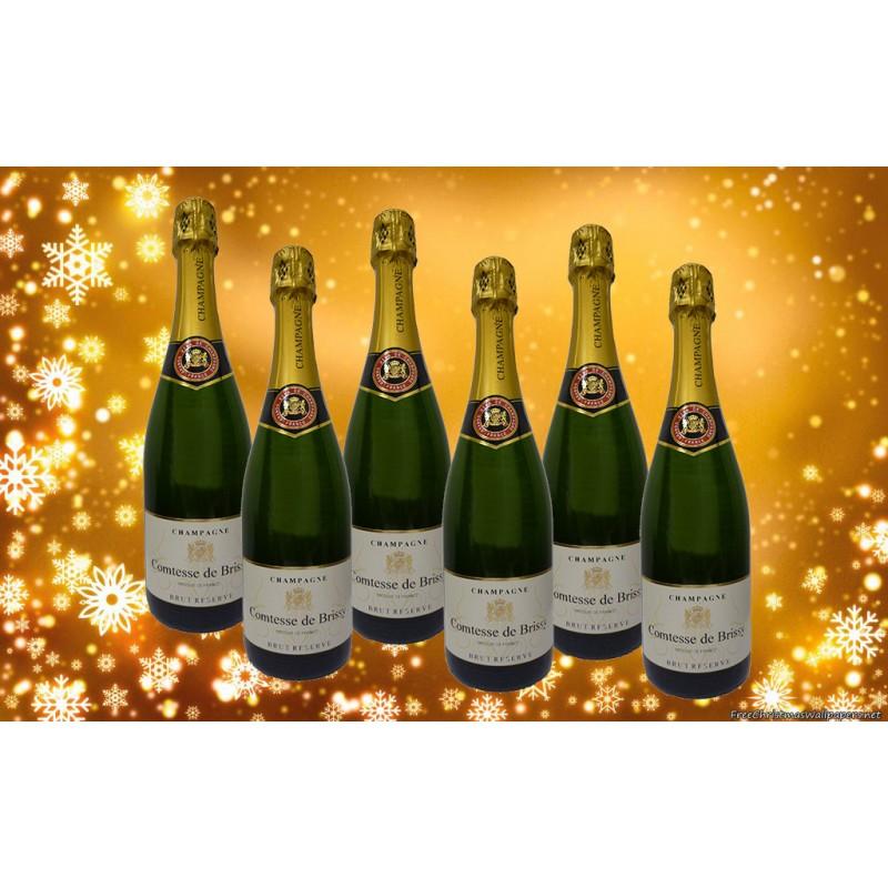 6 DEMI BOUTEILLES Champagne Comtesse de Brissy Brut Reserve (375ml)