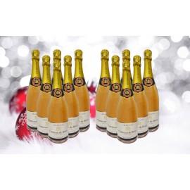 12 DEMI BOUTEILLES Champagne Comtesse de Brissy Rosé (375ml)