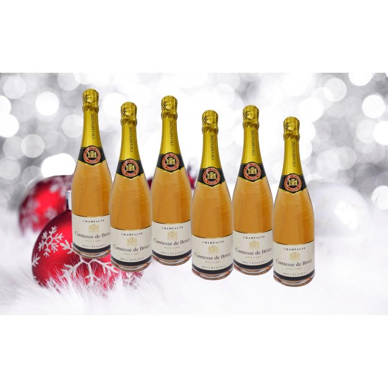 6 DEMI BOUTEILLES Champagne Comtesse de Brissy Rosé (375ml)