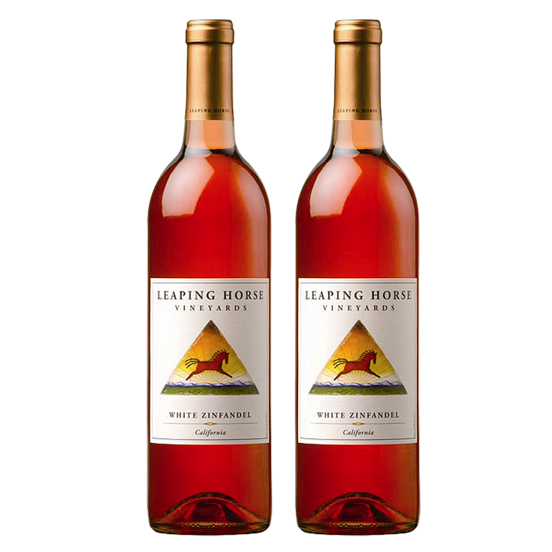 2 bottles of Leaping Horse White Zinfandel 2010