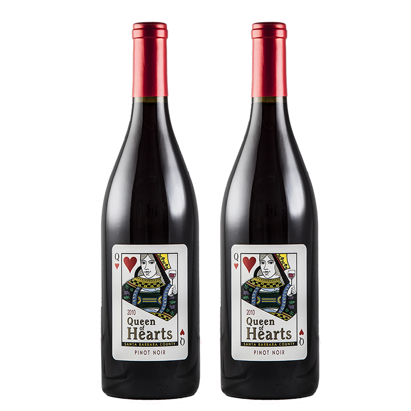 2 bottles of Queen of Hearts Pinot Noir 2010